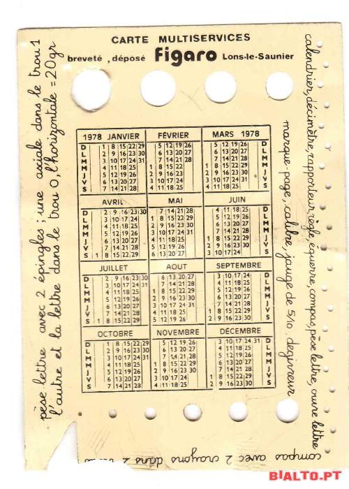 Calendario De 1978.1 Calendario Do Ano De 1978 A Venda Bialto Pt